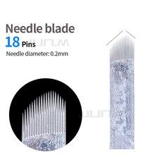 500pcs 0.2mm  Microblading Needles Blade Permanent Makeup Manual Eyebrow Tattoo Chamfering 18 U Shape Blades