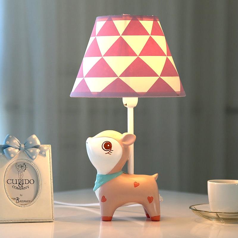 Cute Deer Dimmable LED Desk Lamp Light Bedroom Bedside ...