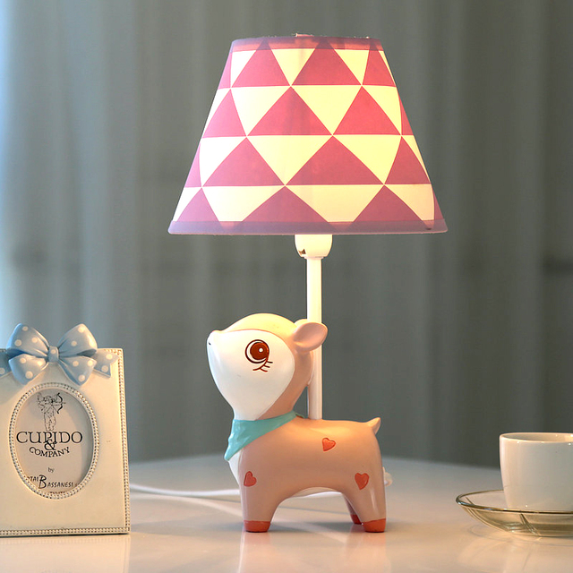 dimmable bedside lamp touch control cute deer dimmable led desk lamp light bedroom bedside party