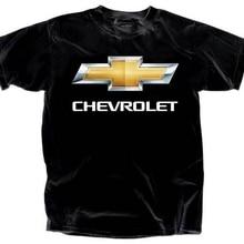 d6f4c2f7 Mens Chevy Bowtie Chevrolet Chrome Logo Black T-shirt Adult Size M(China)