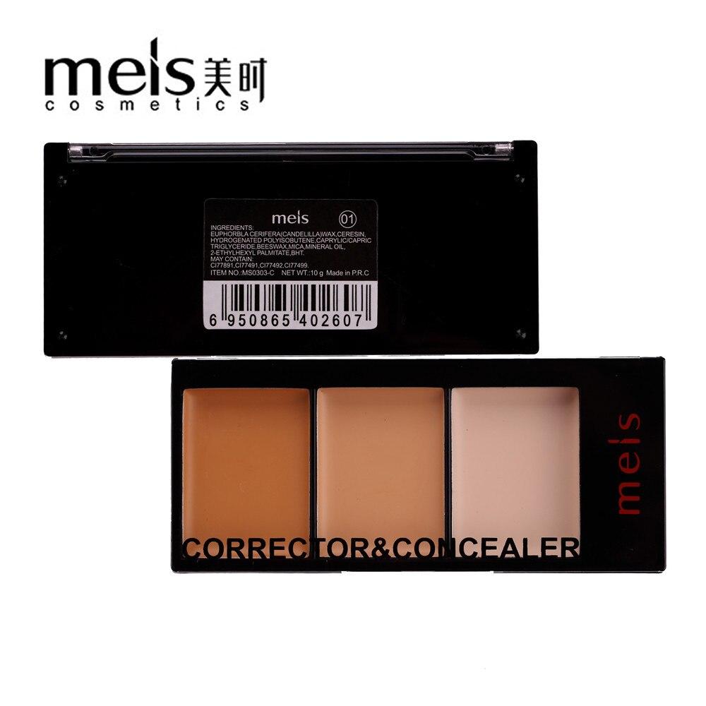 MEIS 브랜드 메이크업 화장품 전문 메이크업 3 가지 색상 Conealer Contour Paletter Contouring Makeup Face 부드러운 미소 MS0303-C