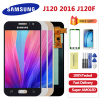 4.5 inch AMOLED LCD J120 For SAMSUNG Galaxy J1 2016 J120 J120F j120M J120H Display Touch Screen Digitizer Assembly Free shipping