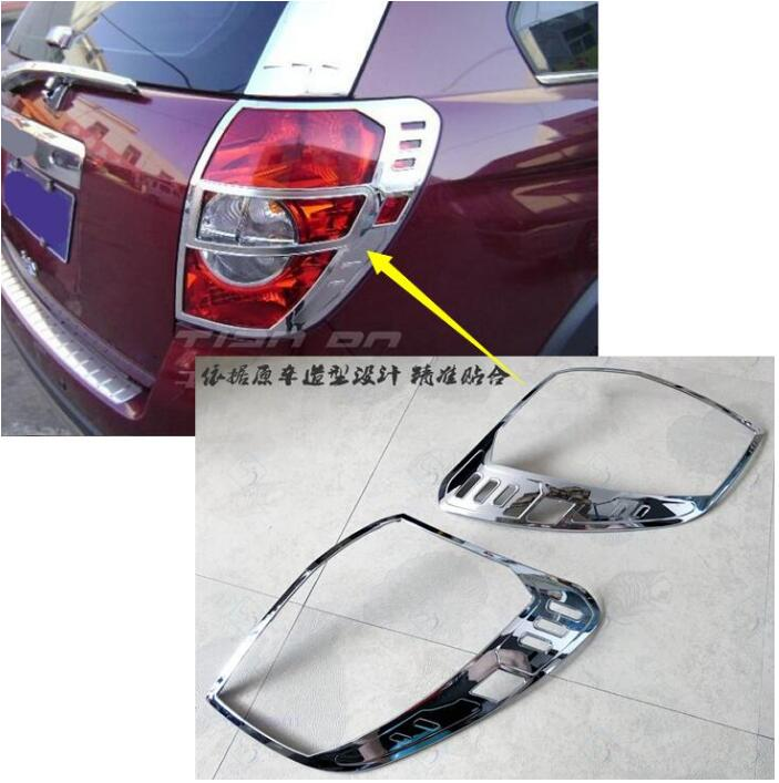 car styling case For Chevrolet Captiva 2008 2014 2PCS After Rear Tail Light Lamp Cover Taillight Lamp Shade Frame Decoration