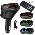 New 1pcs Pipe shape Car Kit MP3 Player Wireless FM Transmitter Modulator USB for LCD Remote Red Hot Selling