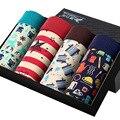 4 unids/una caja/4 colores material modal mens underwear boxers underwear calzoncillos para hombre boxers 29