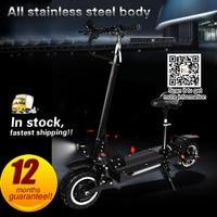 Off Road Электрический скутер 48 В в В/60 в сильный Мощный Новый складной велосипед 11 дюймов