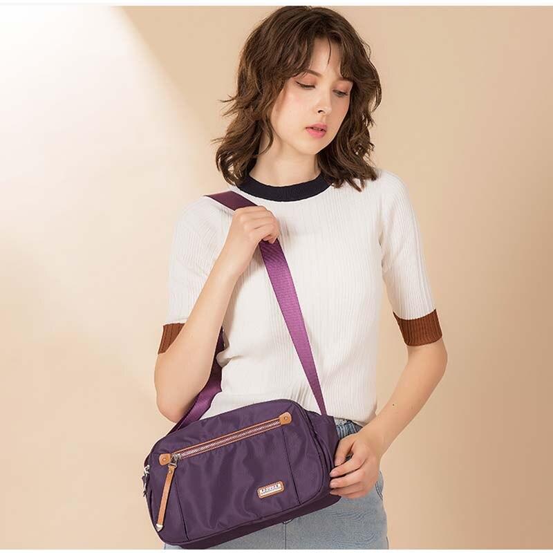Fouvor Nylon Women Messenger Bags Small Purse Shoulder Bag Female Crossbody Bags Handbags High Quality Bolsa Tote Beach-in Top-Handle Bags from Luggage & Bags    3