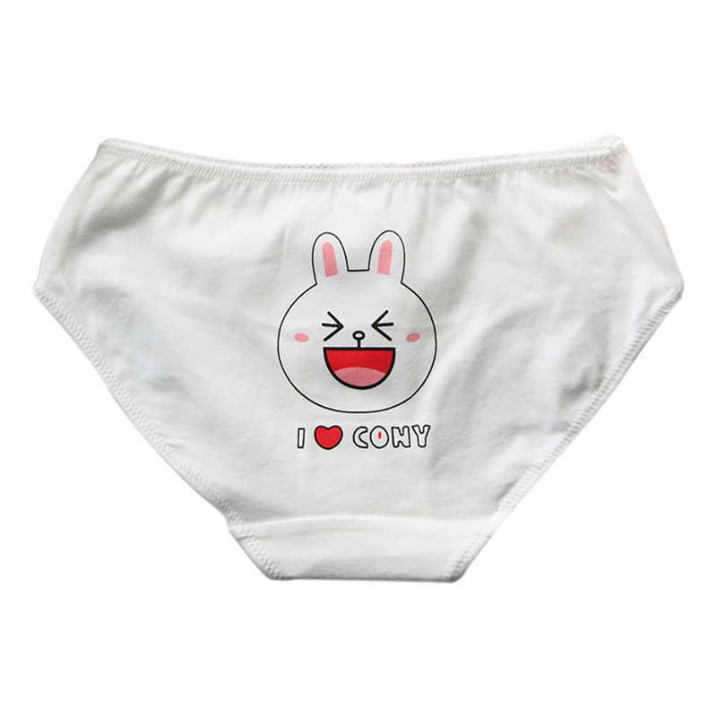 ... Lindo de dibujos animados de algodón Bragas de la ropa interior de  chica poco oso conejo 8577aeb9297d