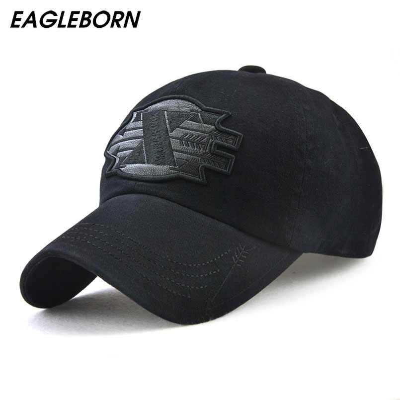 EAGLEBORN Brand Men Baseball Caps Dad Casquette Women Snapback Caps Bone  Hats For Men Fashion Hat 7b2d758622c