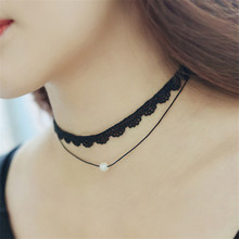 Necklace Fashion Jewelry Chokers Collares Pearls N779 Bijoux Simulated Double-Layer High-Quality