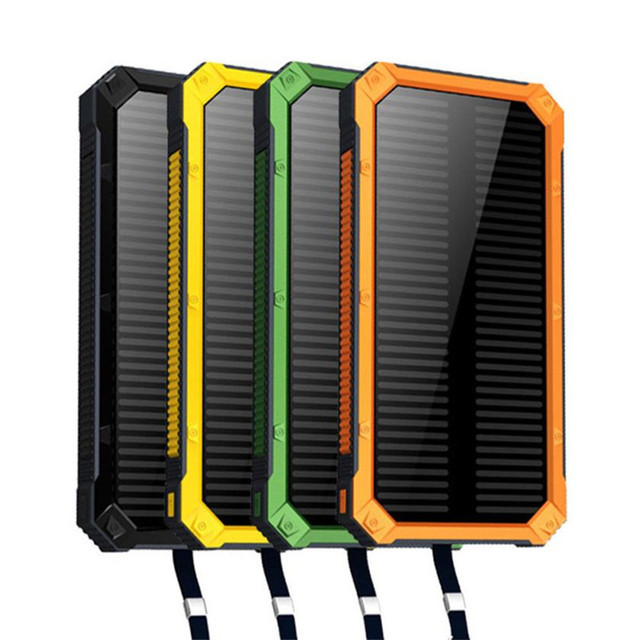 Fiable y de Alta Capacidad de Polímero de Litio Portátil Solar Power Bank 8000 mah Cargador de Batería Externa Para El Teléfono Móvil