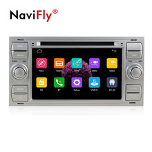 Navifly Spedizione gratuita! 7 pollici 2din windows ce6.0 Car DVD Player Per C-Max Connect Fiesta Fusion Galaxy Kuga Mondeo S- max di Messa A Fuoco