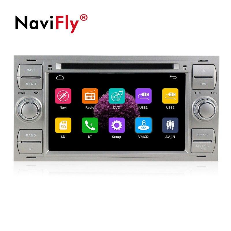 Navifly Frete grátis! 7 Polegada 2din janelas ce6.0 DVD Player Do Carro Para C-Max Conectar Fusão Fiesta Galaxy Kuga Mondeo S- max Foco