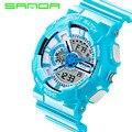 2016 New Brand SANDA Fashion Watch Men Style Waterproof Sports Military Watch S Shock Men Luxury Analog LED Quartz Digital Watch