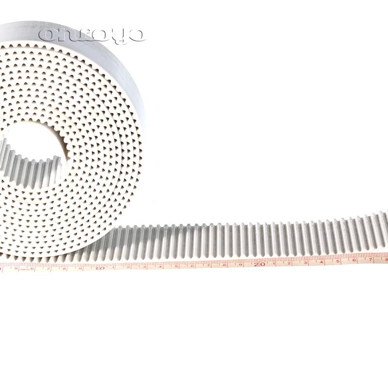 1 Meter For BARUDAN Tajima Embroidery Machine Frame Belt Trapezoidal Teeth Type S5M Tooth Belt 50mm/30mm White Color
