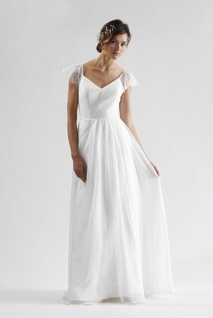 2016 nuevos vestidos de novia de gasa plisada falda y blusa de