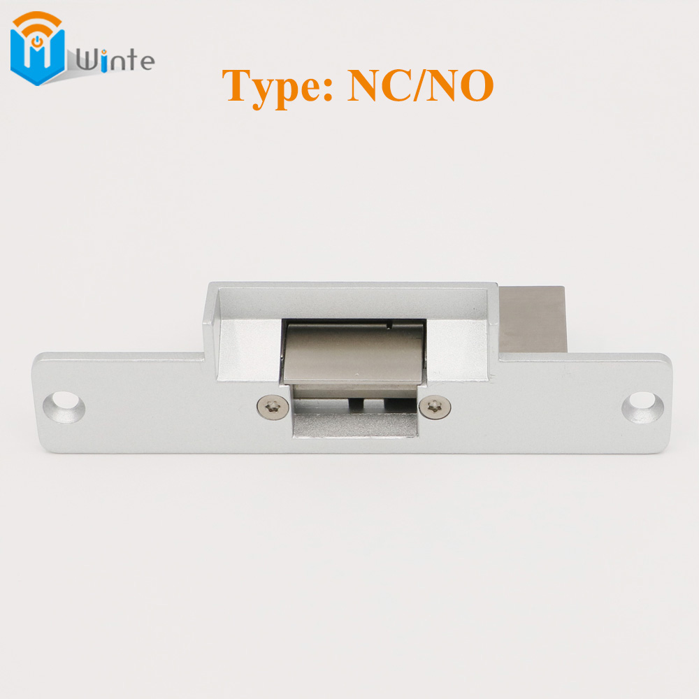 Electric Strike Lock Door For RFID Electric Access Control sytem Aluminum face plate, type NC/NO fail safe 12VDC DouWin access control electric strike lock nc standard type electric strike yli ys132no fail safe strike lock high quality