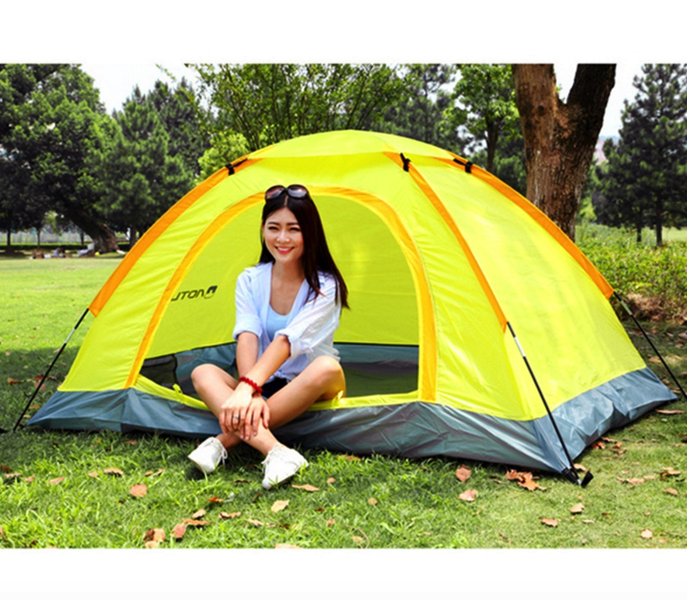AOTU Top Quality Solid Fabric 1-2 Person Rainproof Windproof Outdoor Camping Tent for Hiking Fishing Hunting Adventure Picnic hewolf 2 persons tent mosquito net double layer rainproof outdoor tourist camping tent for hiking fishing hunting dhl free