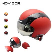 Movigor Bike Helmet Cycling Safe Cap Cascos Ciclismo Bicycle Accessories Capacete Da Bicicleta Integrally-molded with UV Visor