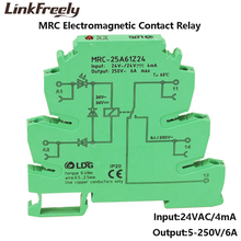 MRC-25A61Z24 10pcs 24V AC PLC Ultra Thin Board Relay Module Output Magnifying Plate 6A Electromagnetic Contact Relay 5V 12V DC цена