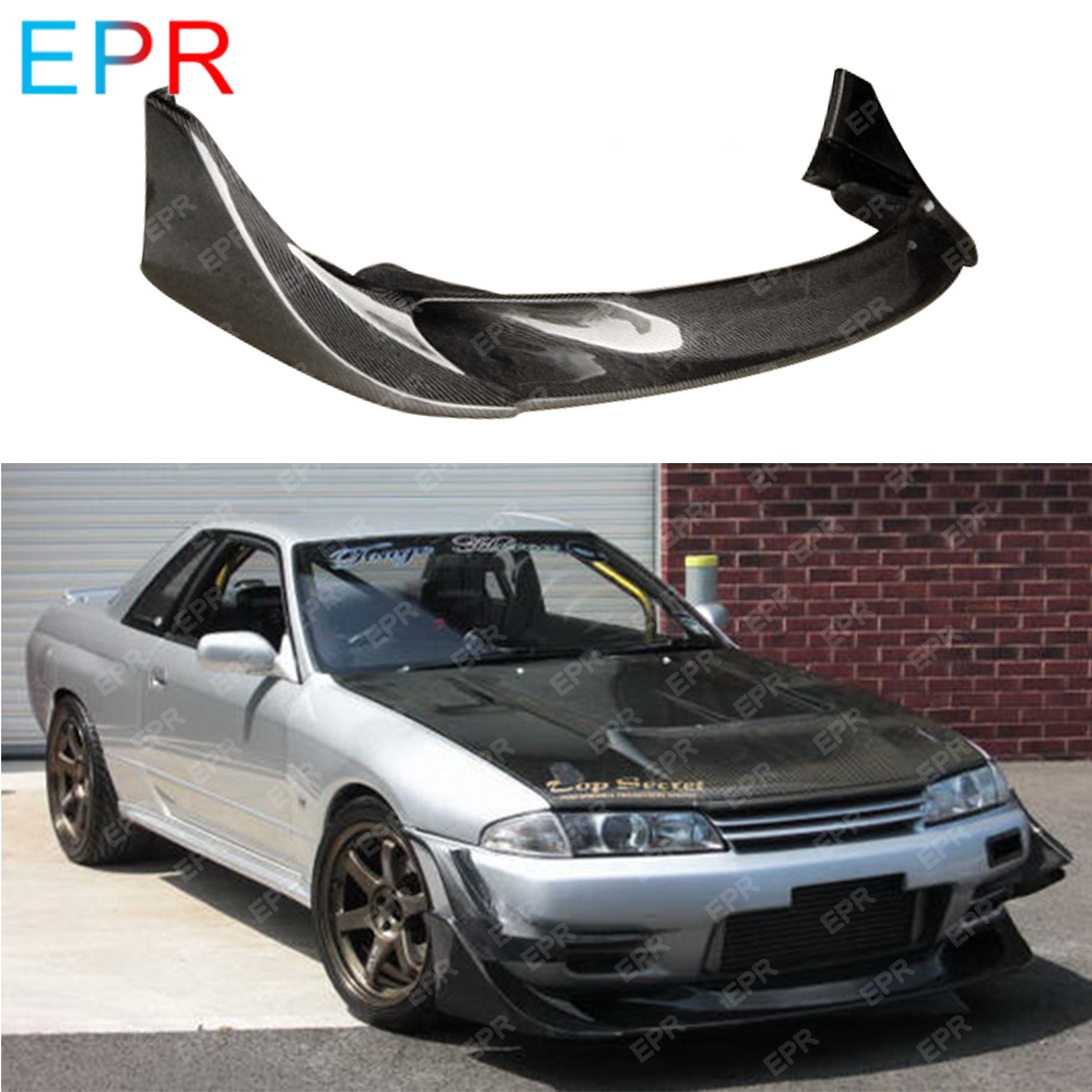 US $720 0 10% OFF For Nissan Skyline R32 Carbon Fiber Front Lip Body Kit  Tuning Part For GTR R32 GTR TBO Front Lip (Only Fit Standard GTR Bumper)-in