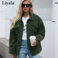 Winter Plus Size Women Shaggy Coat Lamb Wool Women Faux Fur Coat Warm Jacket Coat Outwear Pocket Fleece Fur Coat For Women