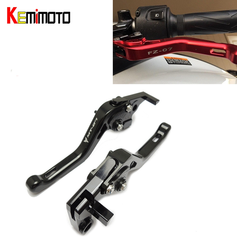 KEMiMOTO For YAMAHA MT-07 FZ-07 MT 07 MT07 accessories 2014 2015 2016 2017 CNC Motorcycle Short Brake Clutch Levers new style balance shock front fork brace for yamaha mt07 fz07 mt 07 fz 07 2014 2015 2016 motorcycle accessories cnc aluminum