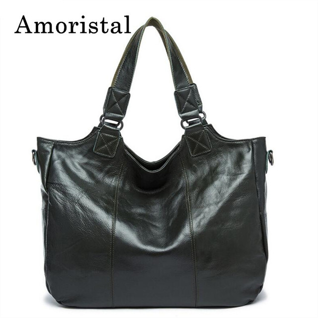 Women Shoulder Bags Vintage Genuine Leather Bag Blackish Green Ladies  Handbags Diagonal Portable Soft Female Crossbody a54abe6eda944