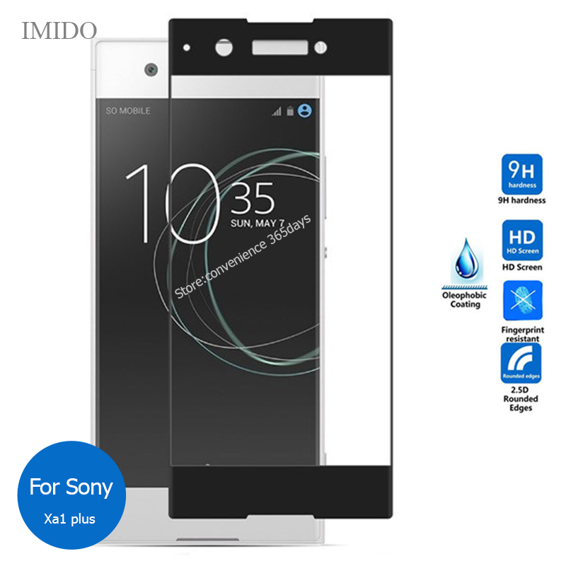 For Sony Xperia Xa1 Plus Full Cover Tempered Glass Screen Protector 9H Protective Film On Xa1Plus G3412 G3416 G 3412 3416