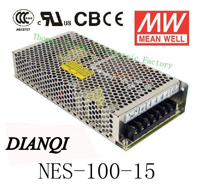 supply NES-100-15 Original MEAN WELL power supply unit ac to dc power  100W 15V 7A MEANWELL meanwell 24v 75w ul certificated nes series switching power supply 85 264v ac to 24v dc