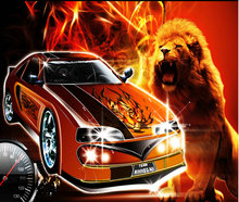 Lion coolcar diamond embroidery painting 3D kit mosaic picture full rhinestones cross stitch Needlework canvas