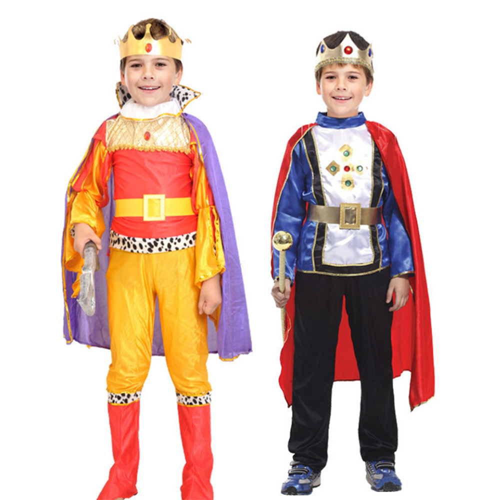 Halloween Cosplay kids Prince Costume for Children The King Costumes Children's Day Boys Fantasia European royalty free shipping