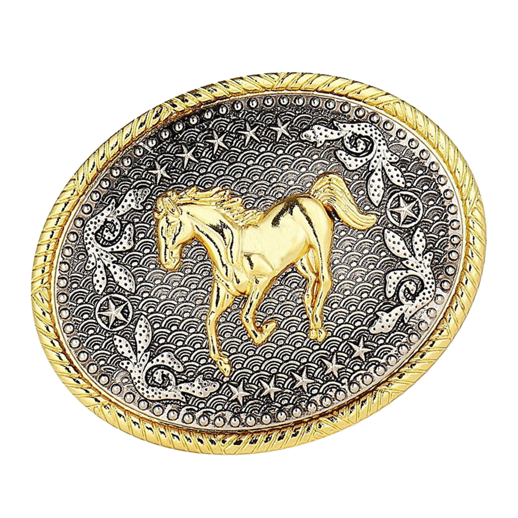 Engraved Animal Horse Oval Cowboy Belt Buckle Rodeo Mens Fashion Jewelry Jeans Accessories For Boys Men