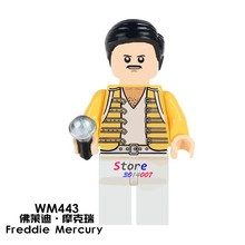 1PCS model building blocks action figures starwars superheroes Freddie Mercury learning Dolls DC diy toys for children gift(China)