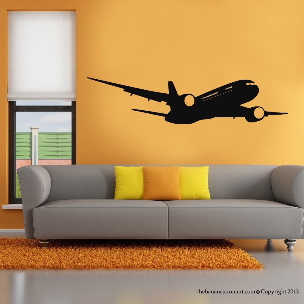 Airplane Boeing Wall Modern Decal Stickers Decor Easy Removable ...