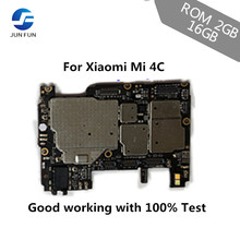 Main-Board JUN FUN with Chips Circuits Flex-Cable for Xiaomi 4C Mi4c/m4c 16GB Unlocked