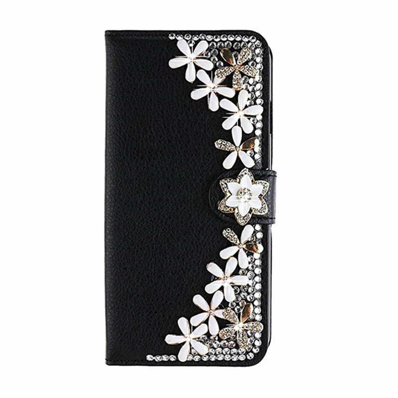 Lật Da Kim Cương Giả Bao Da Dành Cho Samsung Galaxy Samsung Galaxy S8 S9 Note 10 9 J4 J6 Plus J8 J7 Neo J5 Thủ j3 2016 A7 A5 A3 2017 Ốp Lưng Điện Thoại