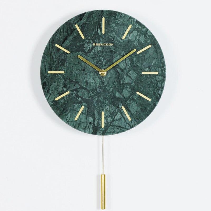 Grande horloge murale rétro silencieuse de 14 pouces avec pendule pour salon pas de bruit de coutil décoration de la maison