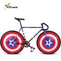 Оригинальный X-Front fixie велосипед с фиксированной передачей  46 см  52 см  DIY  Односкоростной дорожный велосипед  трек  флаг  велосипед bicicleta fixie