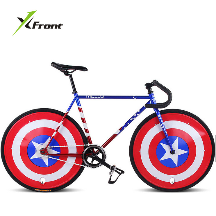 Original X-Front Brand Fixie Bicycle Fixed Gear 46cm 52cm DIY Single Speed Road Bike Track Flag Bicicleta  Fixie Bicycle
