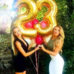 32 дюйм(ов) розовые, золотые, серебряные номер фольга шары большой для День рождения Свадебные украшения