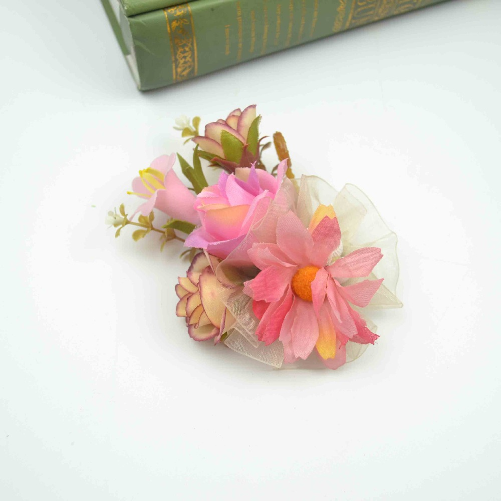 2018 DIY Fabric Costume Accessories Silk Flowers for Cloth Decorative Wedding Corsages Flower Brooch
