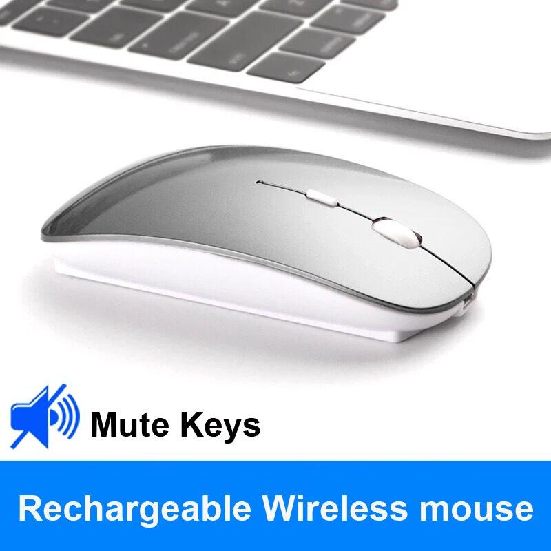 Fazer Dower Mouse Sem Fio Recarregável Slient Botão Ultrafinos Ratos Com Cabo de Carregamento USB Mini mouse Óptico para Computador Portátil