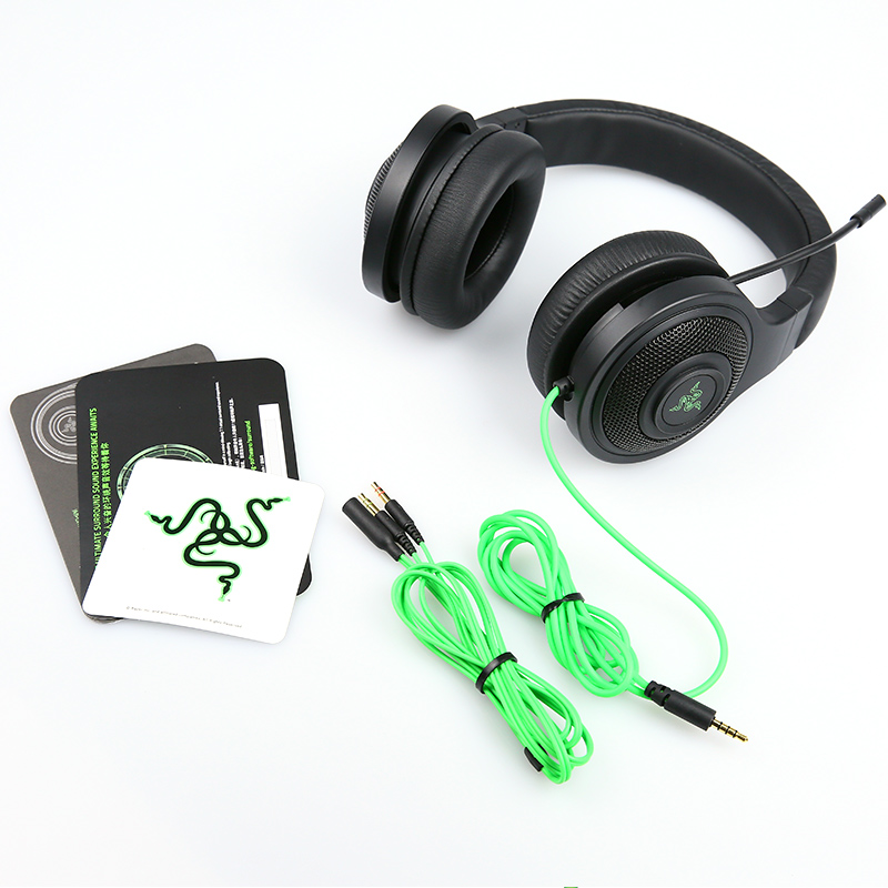 Image 5 - Razer Kraken Essential Headphone Noise Isolating Over Ear wired Gaming Headset Analog 3.5 mm with Mic for PC/Laptop/Phone Gamer-in Headphone/Headset from Consumer Electronics