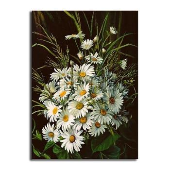 Full Square Diamond embroidery Cross stitch daisy Full Round Diamond mosaic chrysanthemum DIY 3D Diamond painting flowers