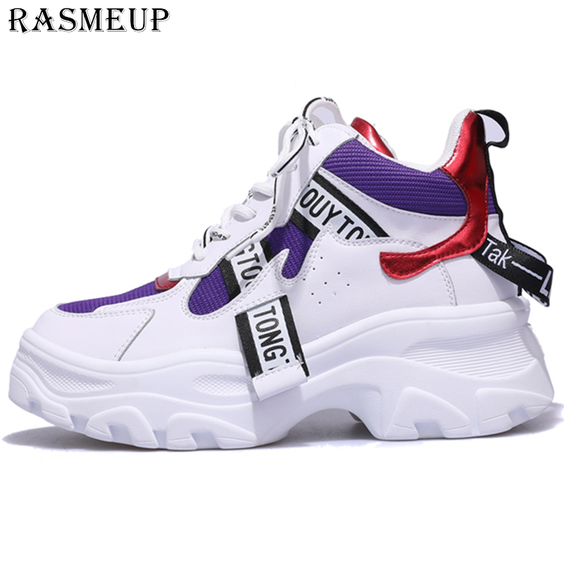 RASMEUP Women s Platform Sneaker Fashion Brand Women Chunky Sneakers Comfort 2019 Spring Casual Woman Dad