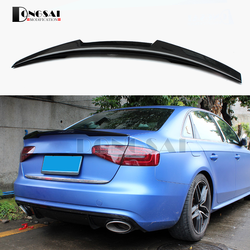 a4 b8 5 carbon fiber rear spoiler wing for audi a4 b8 5. Black Bedroom Furniture Sets. Home Design Ideas