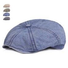 Nuevo Color sólido Vintage tapa octogonal Beckham hombres mujeres moda  octogonal sombreros de algodón de los ce14508b3ac