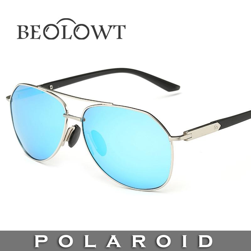 ee1678893 Beolowt marca de moda óculos de sol polaroid mulheres óculos de sol dos  homens polarizados para a condução de liga com caixa de caso 5 cores bl395