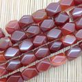 Natural Stone Bead Carnelian Stone Bead 12x17 mm Nugget Good Quality!  22Beads, DIY Jewelry Making! Also Coin Oval etc
